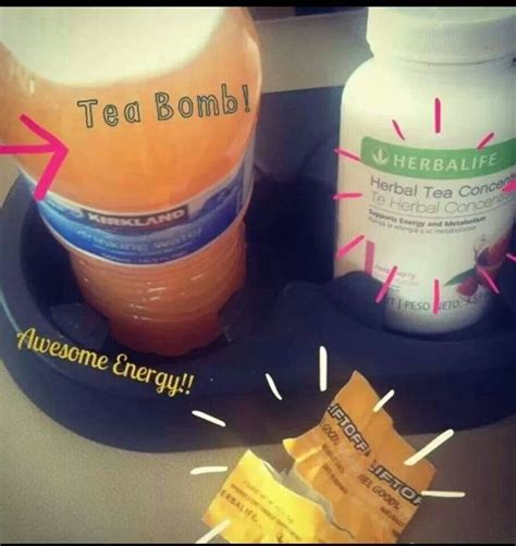 Herbalife tea bomb! Mix Lift Off with the Tea and boom