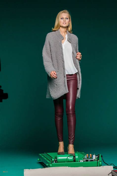 Toni Garrn photoshoot for PKZ Men & Women - Leather