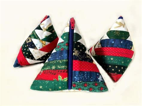 Christmas Tree Purse クリスマスツリーのポーチ – Patchwork Quilt
