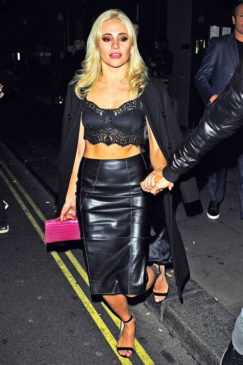 Pixie Lott leaving the Carousel in London - Leather