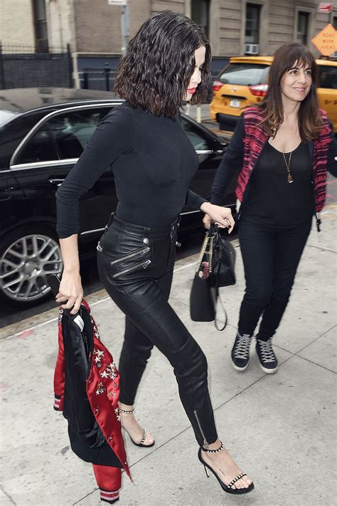 Selena Gomez at Coach House in New York City - Leather