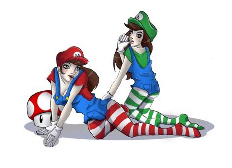 illustration's world — Mario and Luigi in pin up… you can